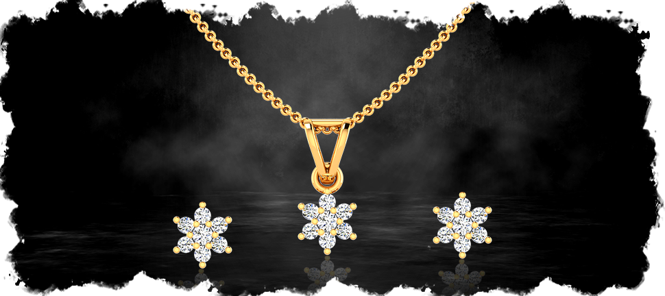 daily wear pendant set by motisons