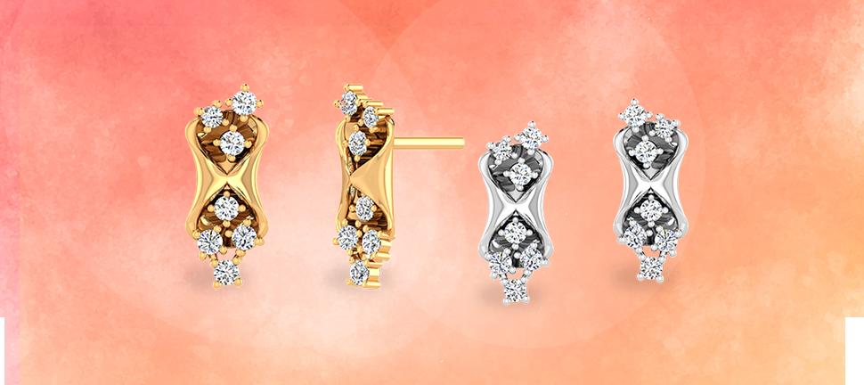 Diamond earrings by motisons