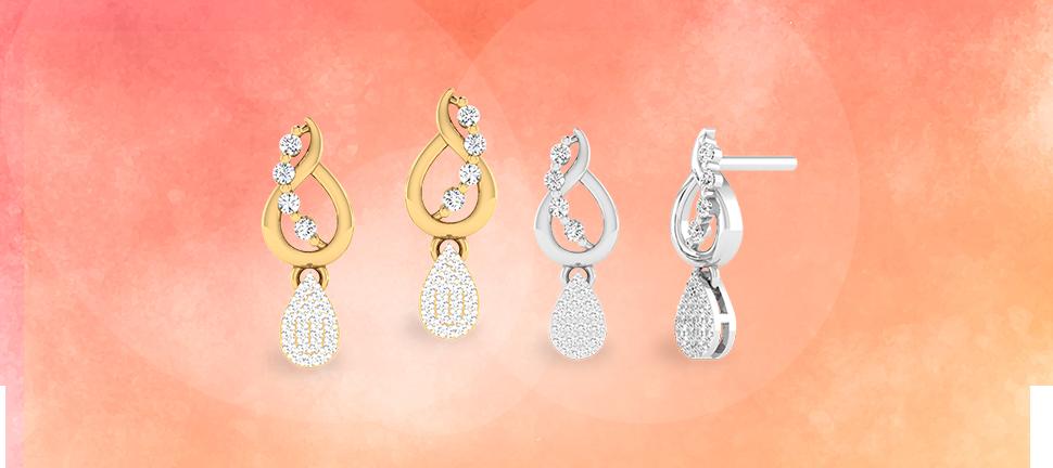 Office wear earrings by Motisons