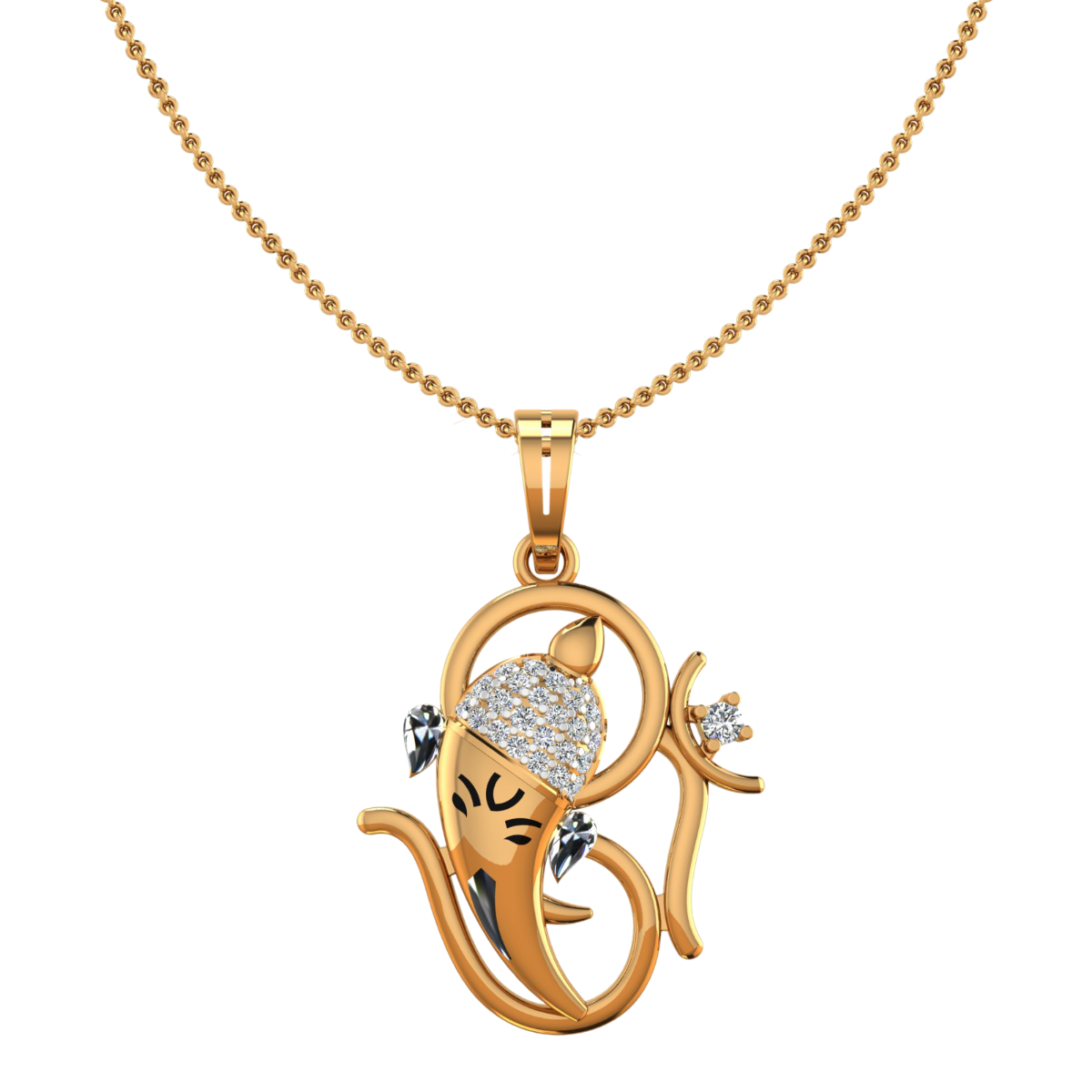 Shree Ganesha Diamond Pendant