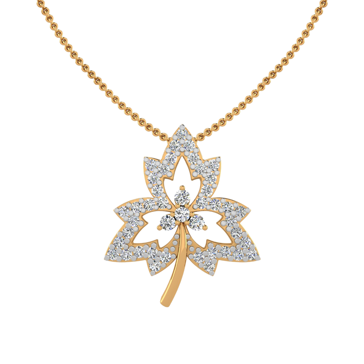 The Maple leaf Diamond Pendant