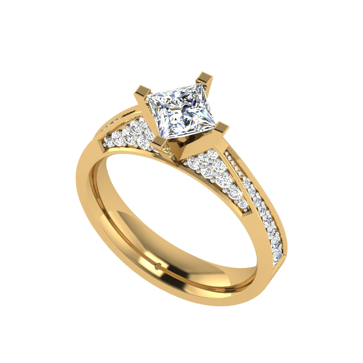 The Prominence Princess Cut Diamond Solitaire Ring