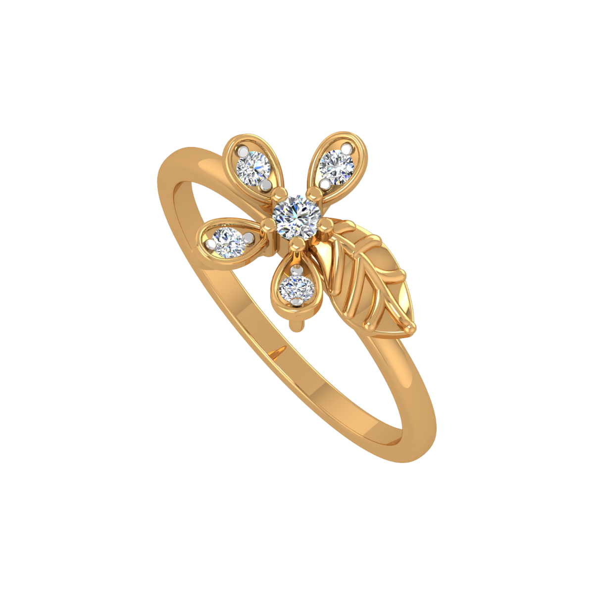 The Tropical Gold Diamond Ring