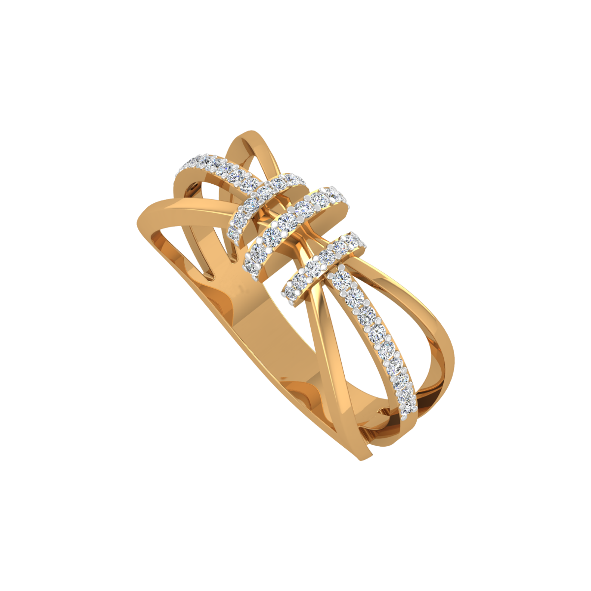 The Drama Lover Gold Diamond Ring