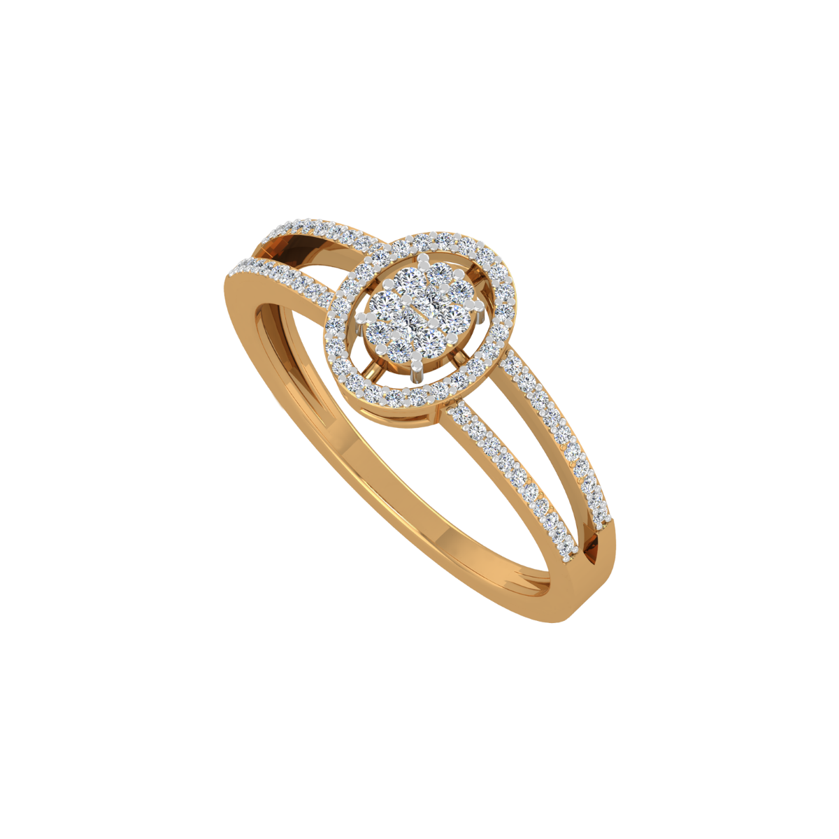 The Perfect Entourage Gold Diamond Ring