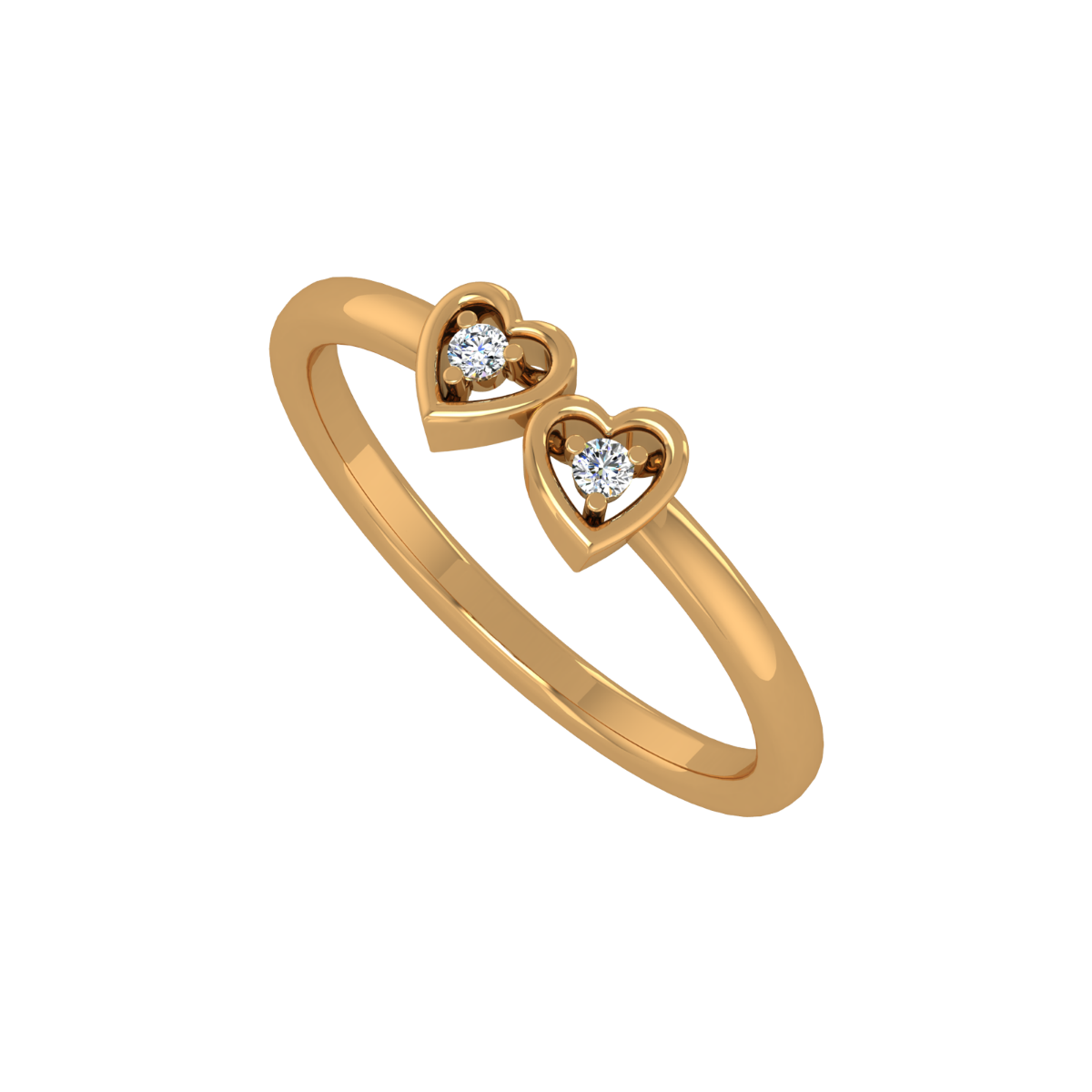 Dream Hearts Gold Diamond Heart Ring