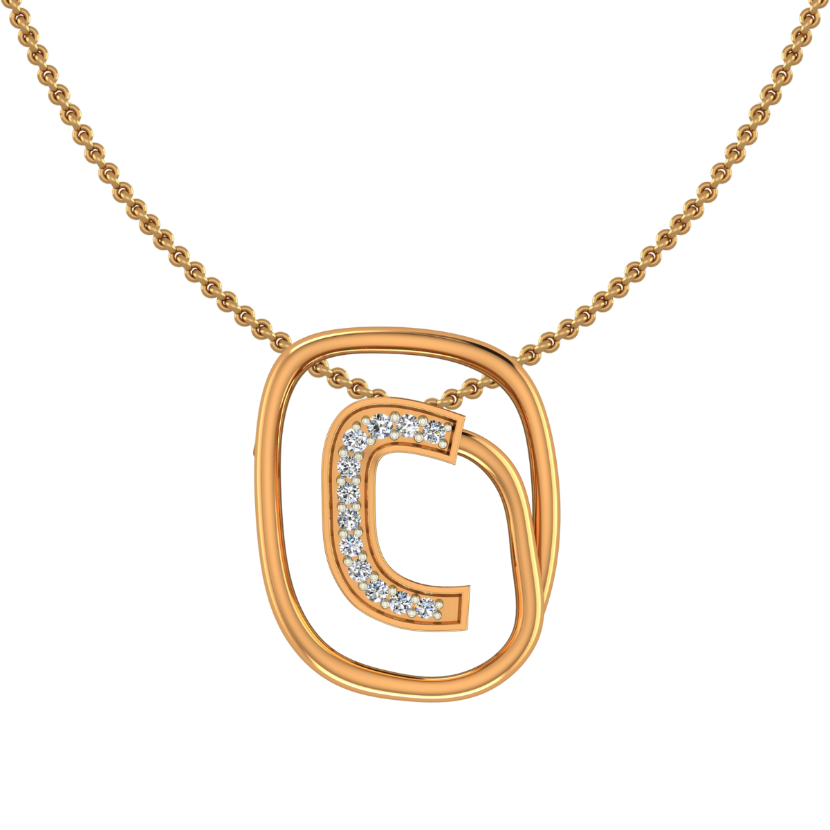 The Golden Circuit Diamond Pendant