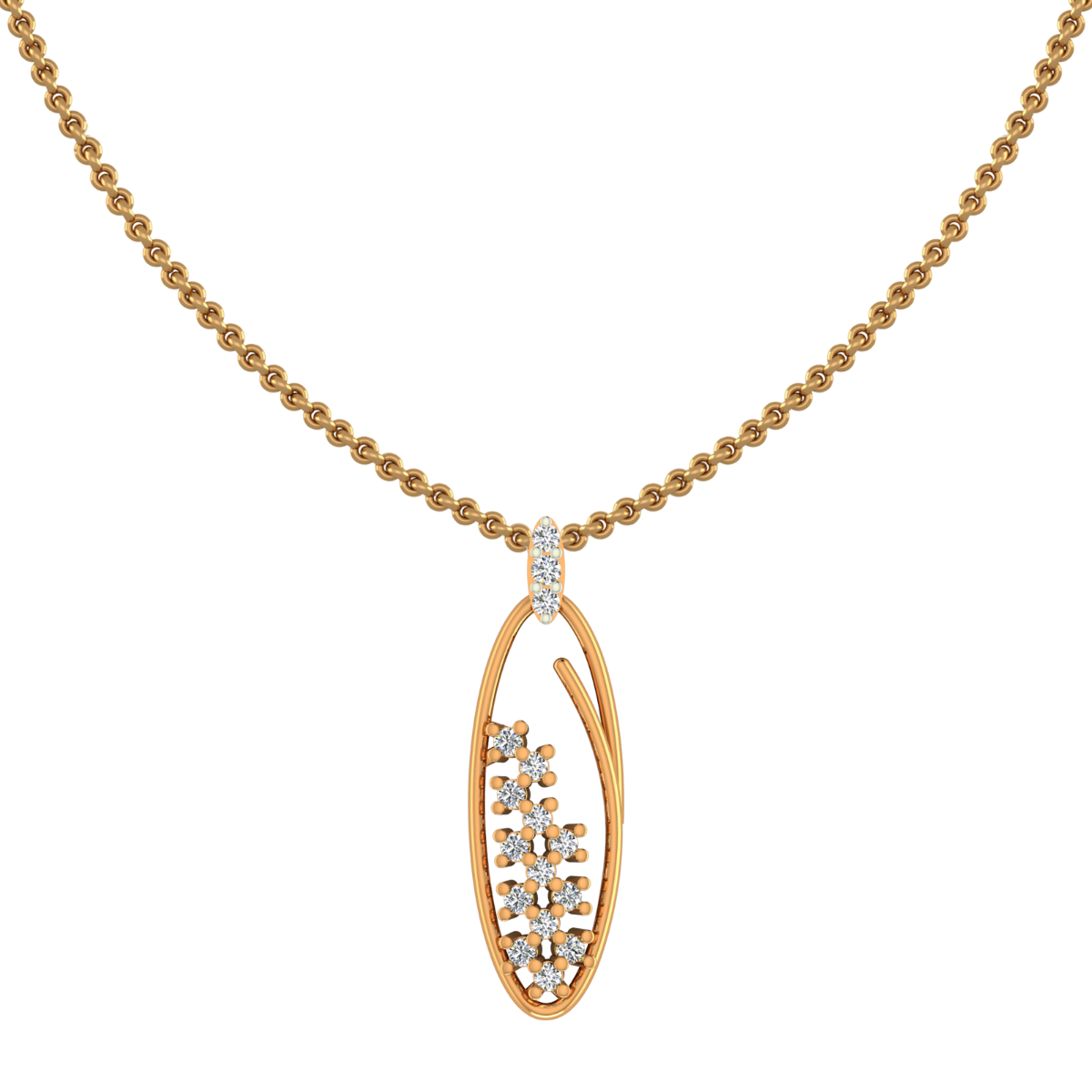 Oval Goodness Gold Diamond Pendant