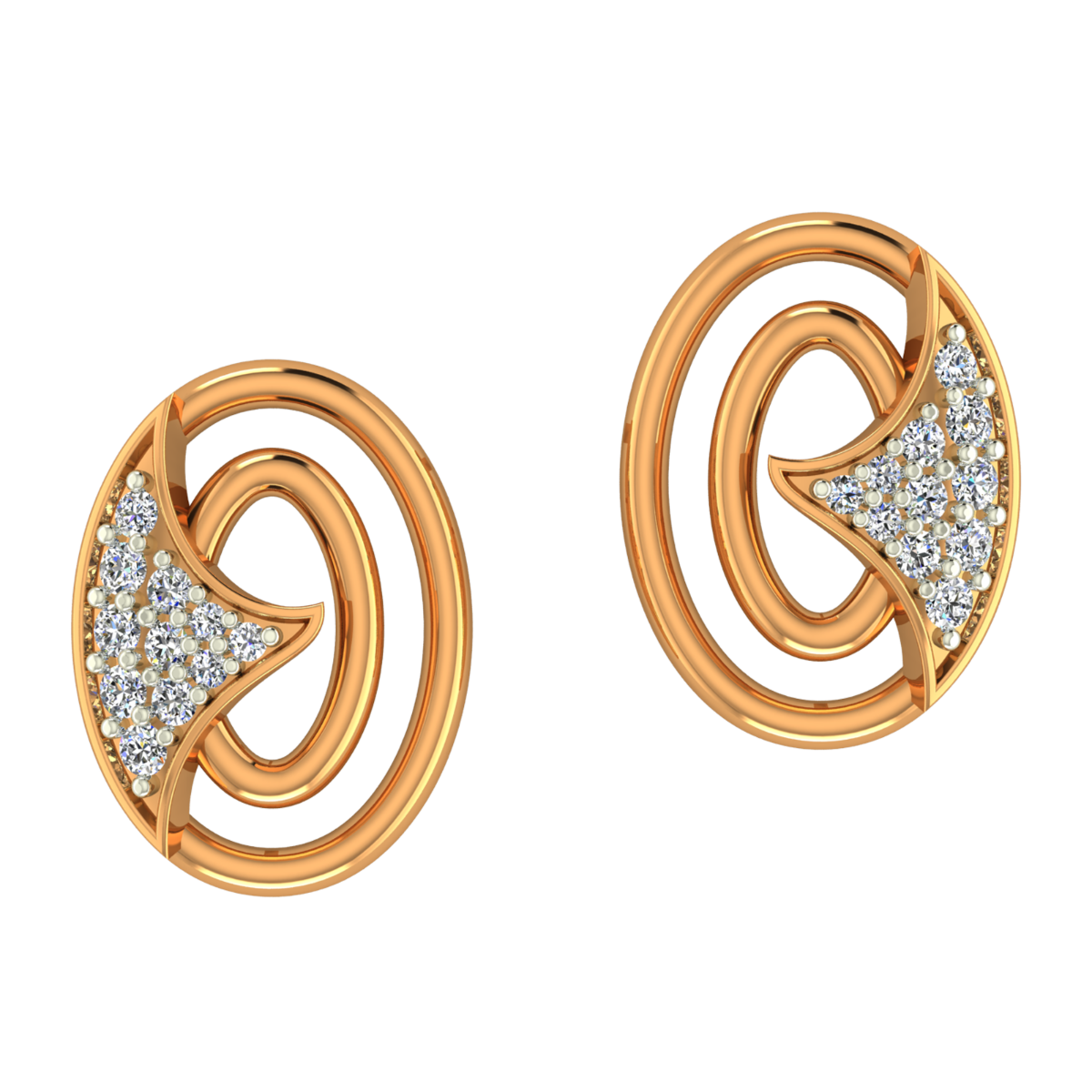 The White Trail Gold Diamond Earrings