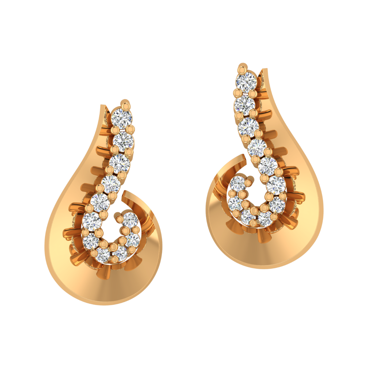 All Is Well Gold Diamond Earrings