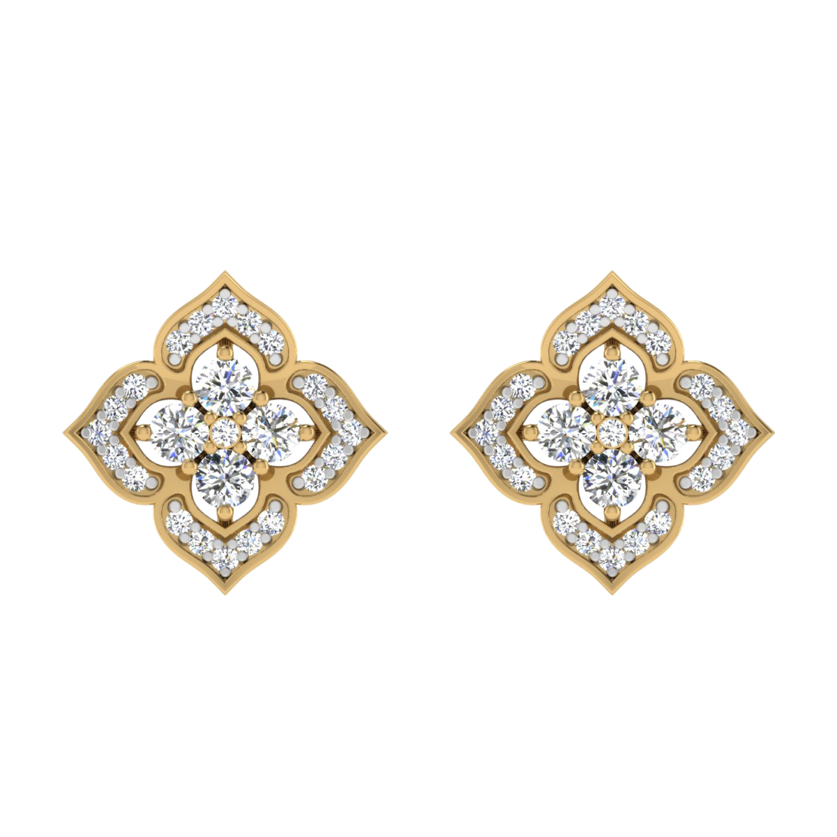The Blossom Point Diamond Stud Earrings