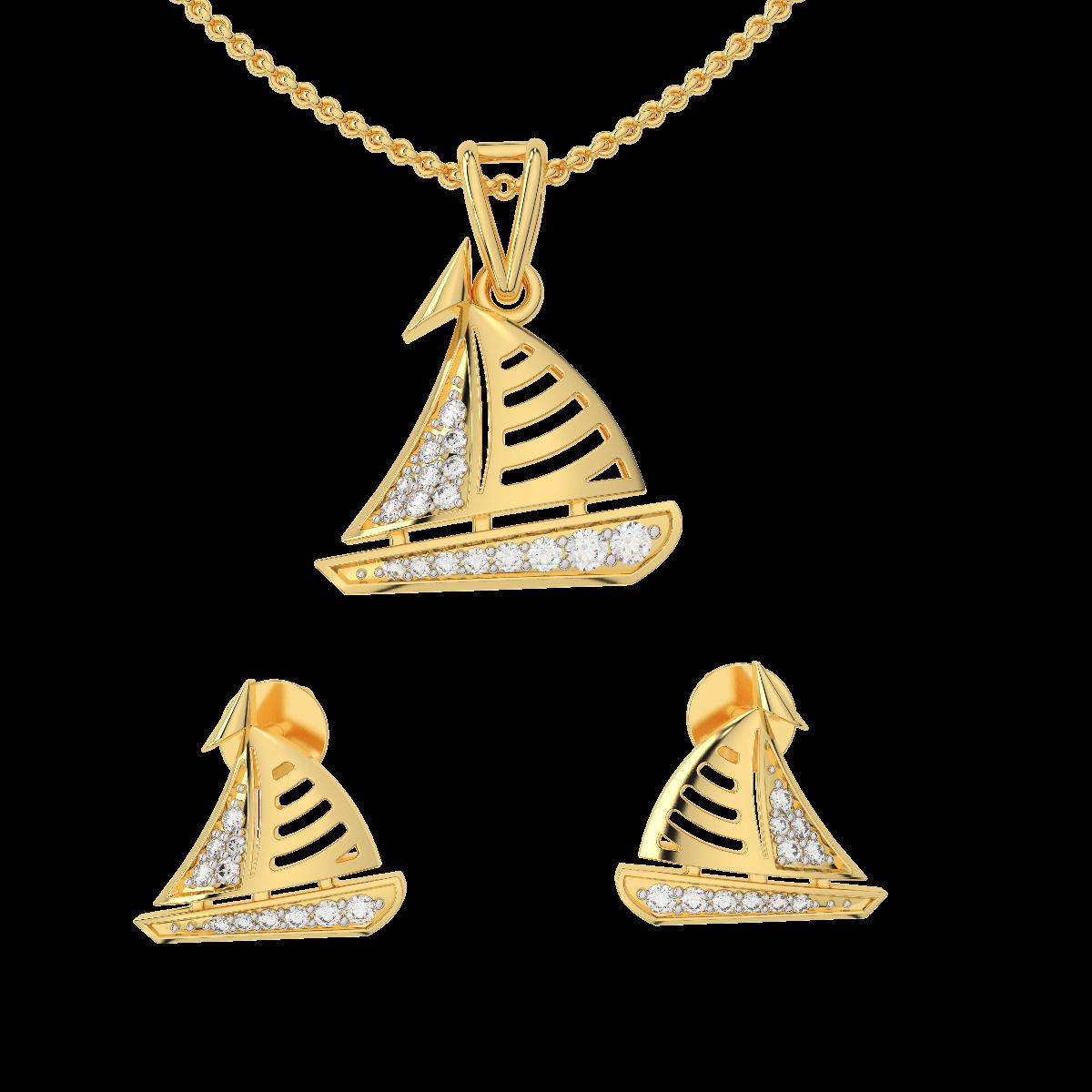 The Voyage Diamond Pendant Set