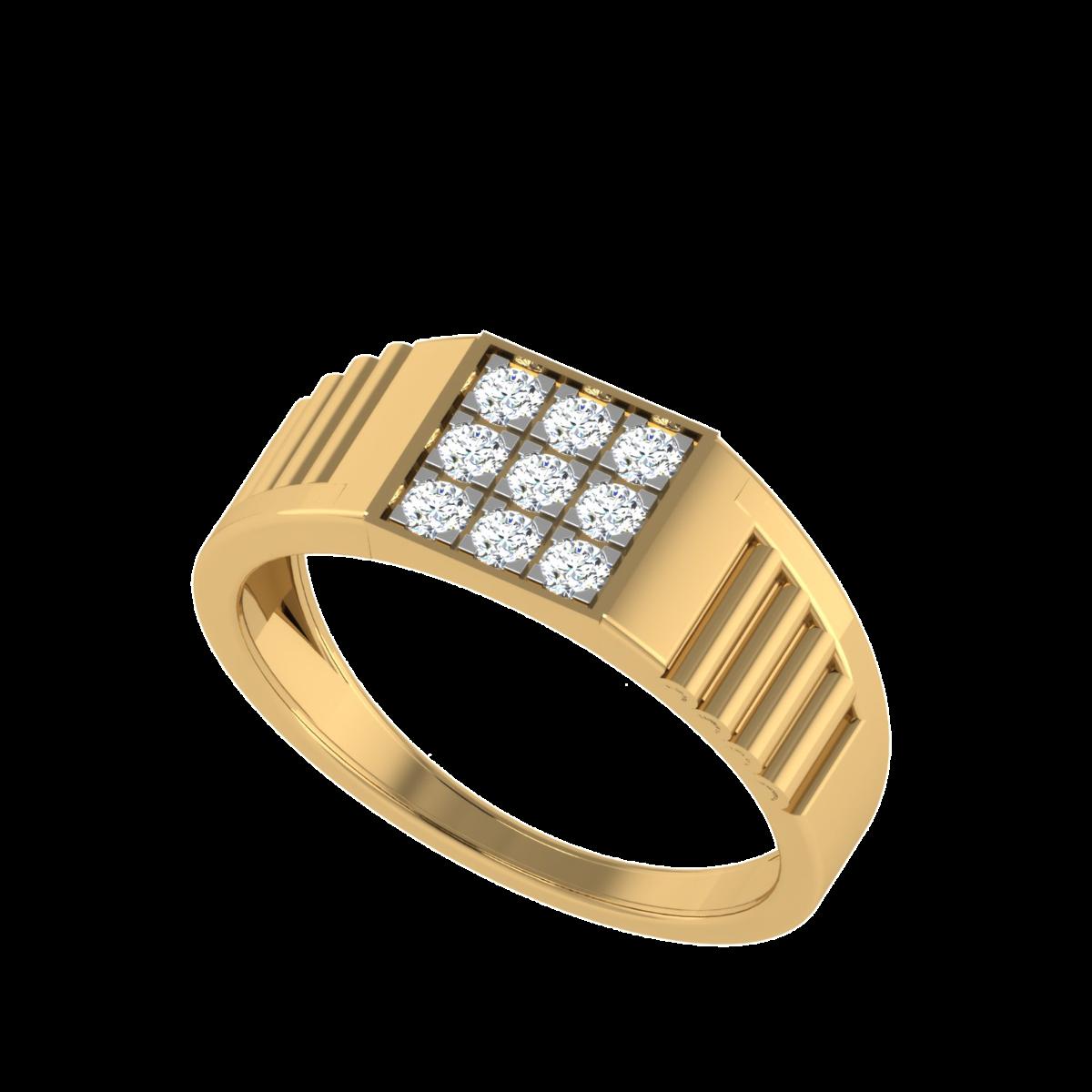 The Cyrus Men`s Nine Diamond Ring