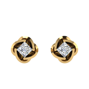 You Deserve Solitaire Diamond Stud Earrings