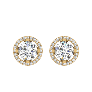 Make You Feel Special Diamond Solitaire Stud Earrings