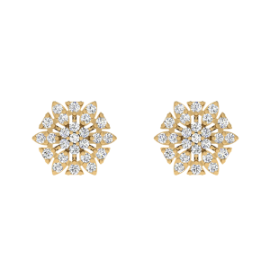 The Swirl Showcase Diamond Stud Earrings