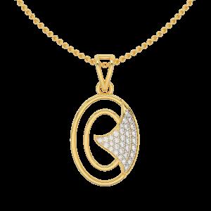 Trailing White Gold Diamond Pendant