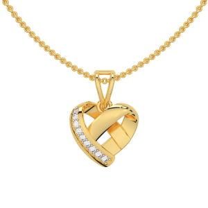 Twist N Turn Gold Diamond Heart Pendant