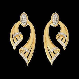 Dual Flash Diamond Earrings