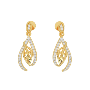 The Natural Essence Gold Diamond Earrings