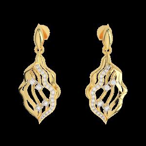 Pretty Pleasing Gold Diamond Fancy Earrings