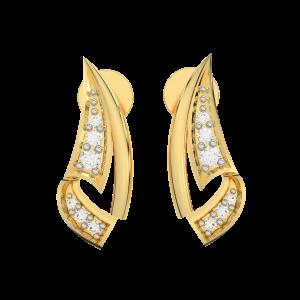 The Royal Gold Diamond Earrings