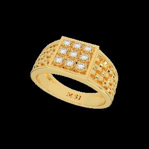 The Diamond Mat Gold Diamond Mens Ring