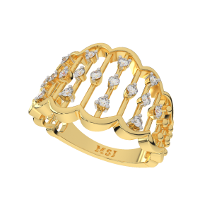 The Rhythm Divine Gold Diamond Ring
