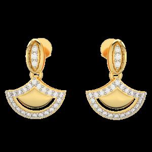 The Festive Gold Diamond Earrings