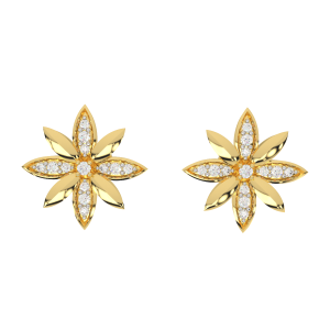 The Daisy Gold Diamond Earrings