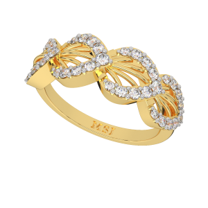The Style Suave Gold Diamond Ring