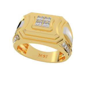 The Mighty Gold Diamond Mens Ring