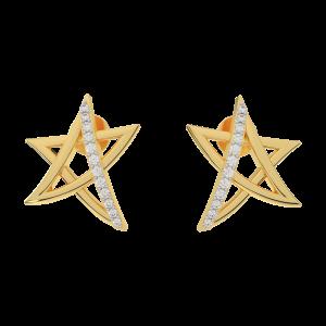The Starred Away Diamond Stud Earring
