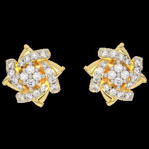 The Floral Wheeling Diamond Earrings