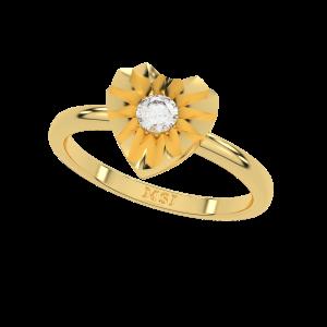The Heart Aura Gold Diamond Ring