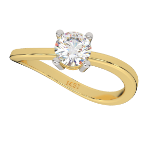 The Solitaire Twiddle Gold Diamond Ring
