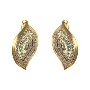 Pleasant Paisley Diamond Pierced Earrings