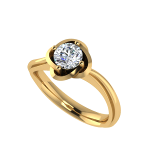 The Solitaire Blossoms Diamond Ring