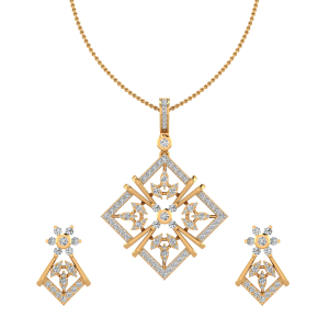The Style Fest Diamond Pendant Set
