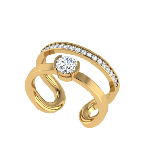 The Disco Lights Solitaire Diamond Ring