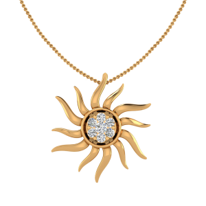 The Sunburst Diamond Pendant