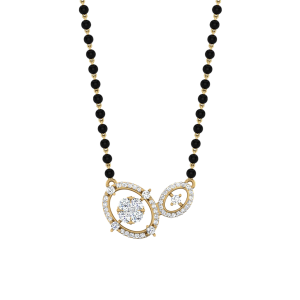 The Absolute Mangalsutra With Black Beads Gold Chain