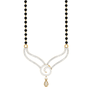 The Effervescent Mangalsutra With Black Beads Gold Chain