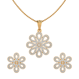 The Fabulously Floral Diamond Pendant Set