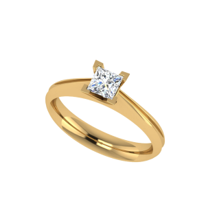 The Moment Princess Cut Diamond Solitaire Ring