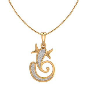Lord Ganesha Diamond Pendant