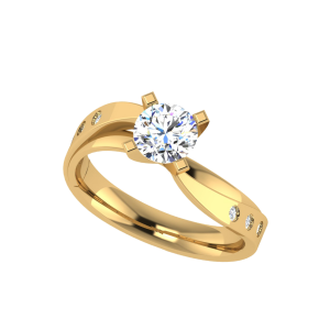 The Solitaire Twist Diamond Ring