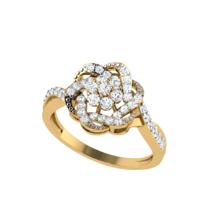 La Fête Florale Designer Diamond Ring