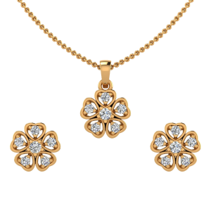The Amore Diamond Pendant Set