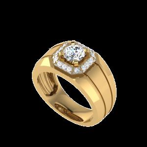 The Brandon Men`s Halo Diamond Ring